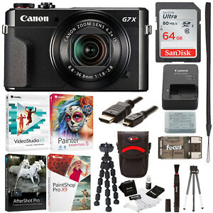 Canon PowerShot G7X Mark II Digital Camera with Corel Software and 64GB...