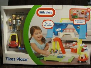 LITTLE-TIKES-PLAYSET-TIKES-PLACE-DOLLHOUSE-FIGURES-COUPE-CAR-NEW-UNOPENED