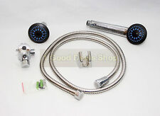 Shower Set ABS Head With 150CM Hose and Wall Fixings Chrome effect 276C