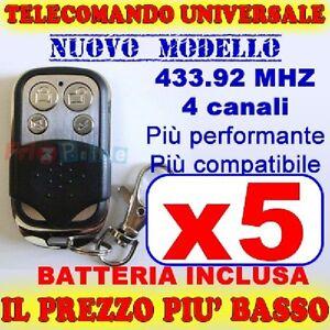 AUTOAPPRENDENTE-TELECOMANDO-433-MHZ-CANCELLO-5-GARAGE-PER-FAAC-CAME-FADINI-wb