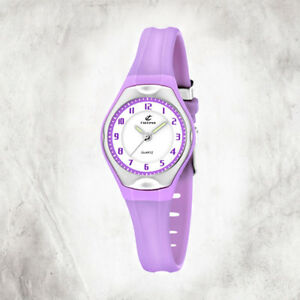 Calypso-Plastic-Pure-Children-039-s-Watch-K5163-N-Wristwatch-Purple-Junior-Uk5163-N