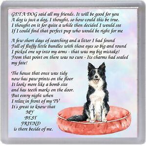 Border-Collie-Dog-Coaster-034-MY-BEST-FRIEND-Poem-034-Novelty-Gift-by-Starprint