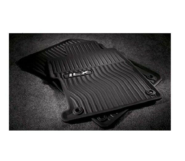 Genuine OEM Black Rubber All-Weather Floor Mats For Acura