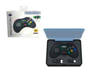 Retro-Bit Official SEGA SATURN Wireless 8-Button Gamepad Controller - Slate Gray