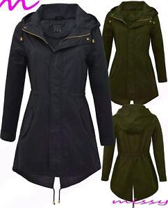 NEW-Women-039-s-CANVAS-COTTON-MAC-Ladies-TRENCH-JACKET-COAT-Khaki-Size-8-10-12-14-16
