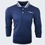Para-hombre-Plain-Pique-Polo-Gavin-camisa-de-mangas-largas-Top-Calido-Azul-Marino-De-Golf-S-M-L-XL miniatura 12