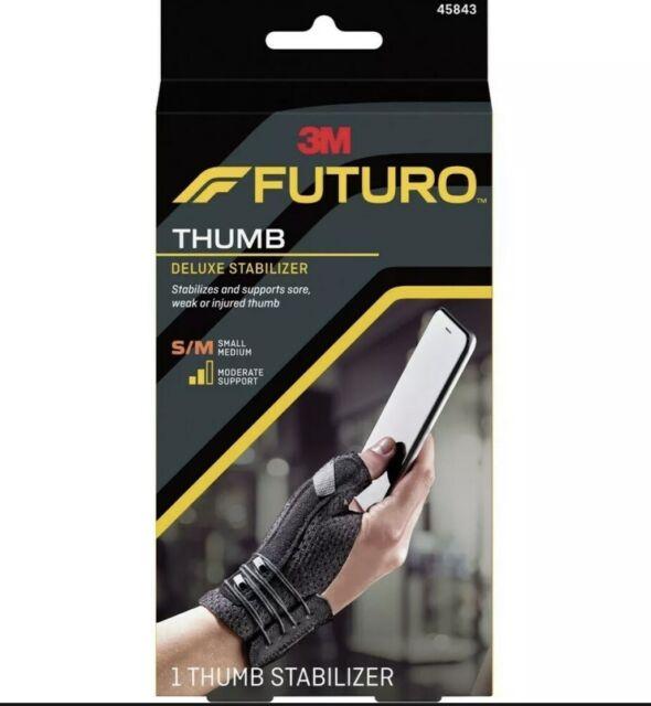3M Futuro Deluxe Thumb Stabiliser Small Medium Black Joint Pain Arthritis 45843