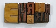 Letterpress Letter Wood Type Printers Block Lot Of 8 Typography Eb 85