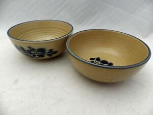 Pfaltzgraff Folk Art pattern – set/lot of 2 Soup/Cereal Bowls - Emblem In & Out