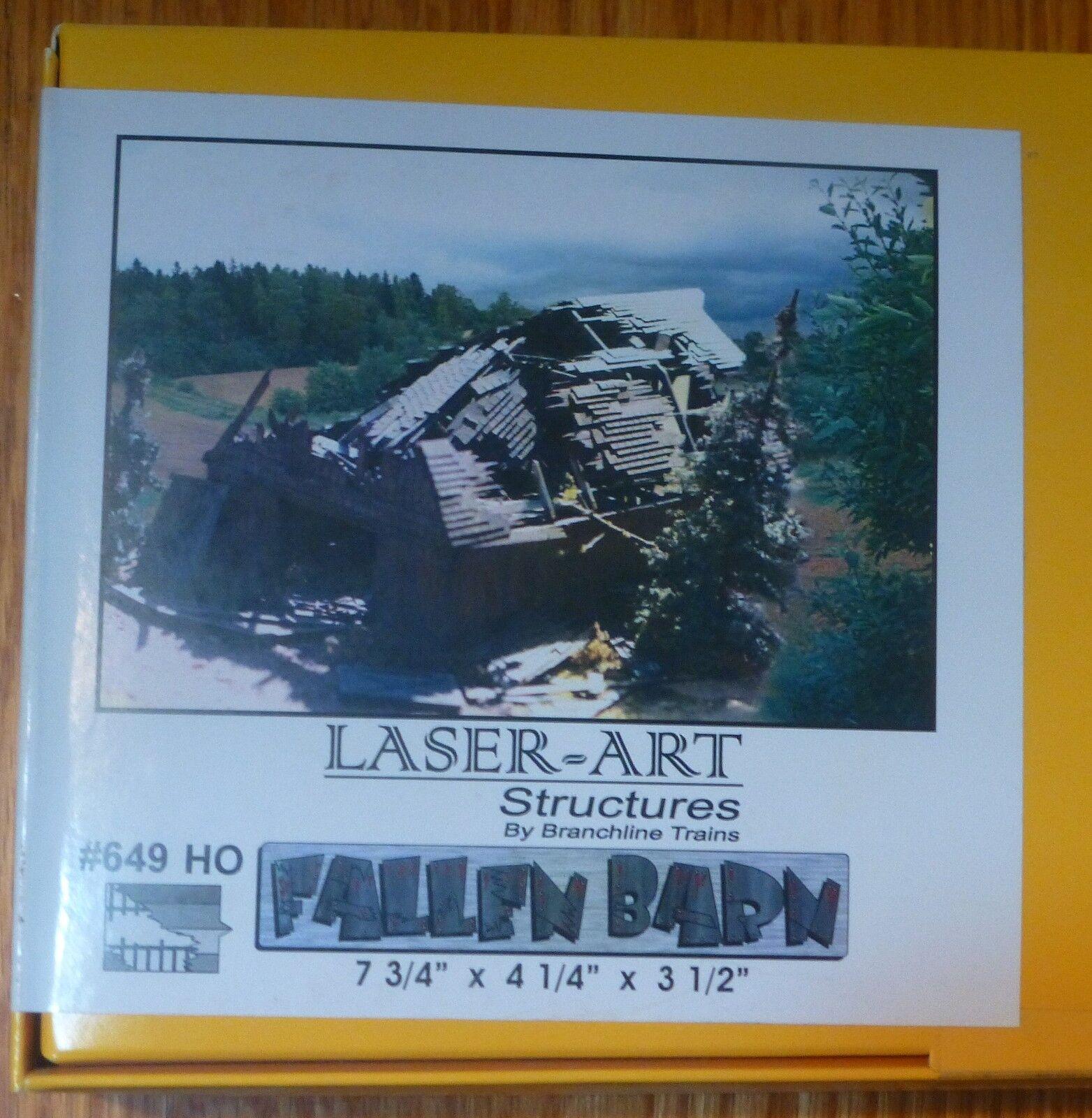 Branchline  649 (HO Scale) The Fallen Barn - Laser-Art -- Kit