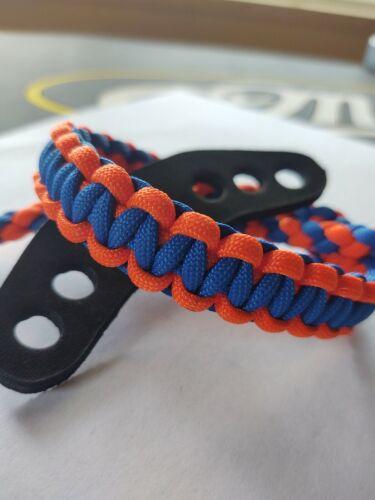 Neon orange and Royal blue Archery Bow Wrist Strap Bling Sling Free Ship