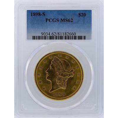 1898-S PCGS MS62 $20 Liberty Head Double Eagle Gold Coin Lot 303