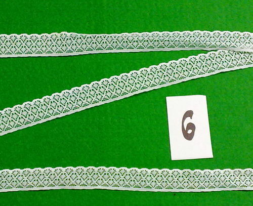 BEAUTIFUL WHITE LACE TRIMS 10m X 19mm WIDTH £4.29/>YOU WON/'T BE DISSAPOINTED No6