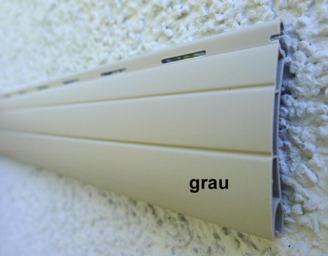 Rollladen Ersatz Lamellen Maßanfertigung PVC grau Breite 130 cm