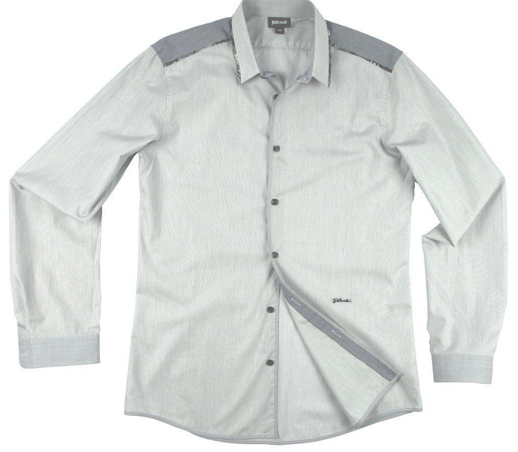 Just Cavalli floral trim shirt white