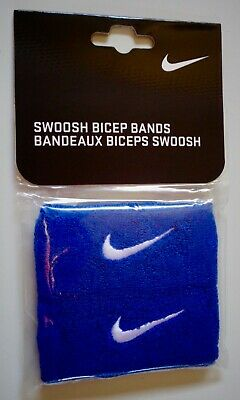 NEW Nike Swoosh Bicep Bands Royal Blue