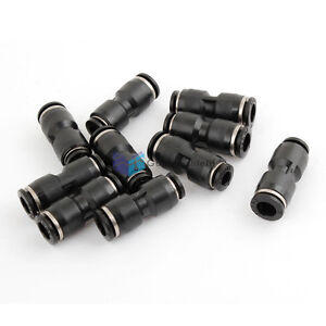 10pcs Tube 6mm Tee Union Pneumatic Push Connector Air Line Quick Fittings Uk
