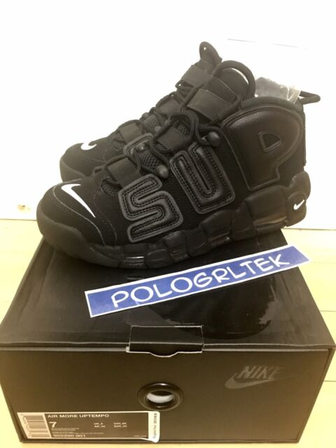 067c79ba7ae7c Nike Air More Uptempo Supreme Suptempo Black 902290-001 Sz US 7 - UK 6 Af1  CDG for sale online