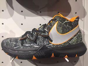 c04d68ca998c4 Nike Kyrie Irving 5 Taco PE Black Orange AO2918-902 Wood Camo GS Men ...