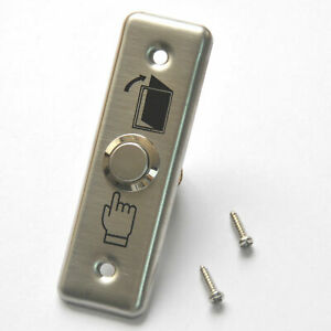 1*Stainless Steel Exit Push Release Button Fits For Door Switch Access Control.