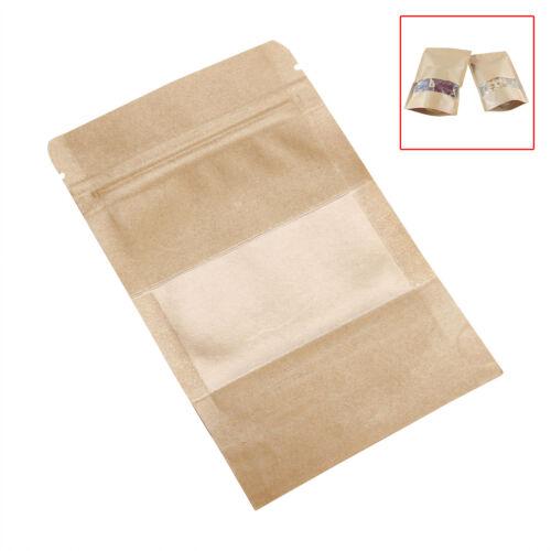 Various Size Heavy-Duty Brown Kraft Paper Zip Lock Bags