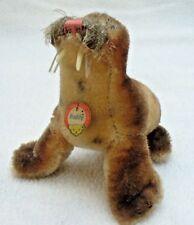 Steiff Paddy Walross 10 cm mit Bärenkofschild