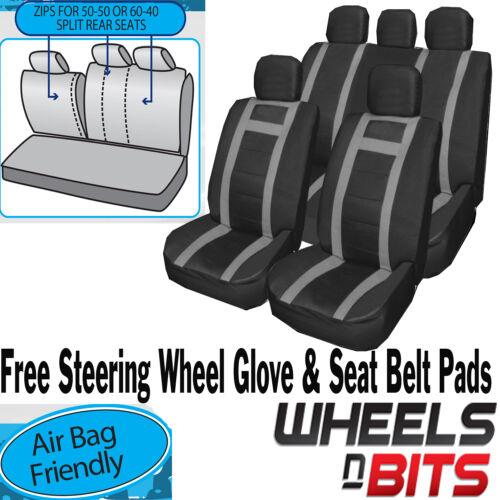 VW Caddy Amarok Passat Universal PU Leather Type Car Seat Covers Set Wipe Clean