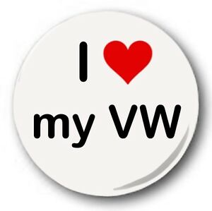 I-love-my-VW-2-5cm-25mm-Boton-Insignia-Lindos-Corazon