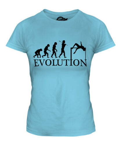 HIGH JUMP EVOLUTION OF MAN LADIES T-SHIRT TEE TOP GIFT ATHLETICS