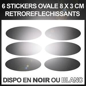 Stickers-Reflecteurs-Autocollant-securite-Visibilite-la-Nuit-NOIR-ou-BLANC
