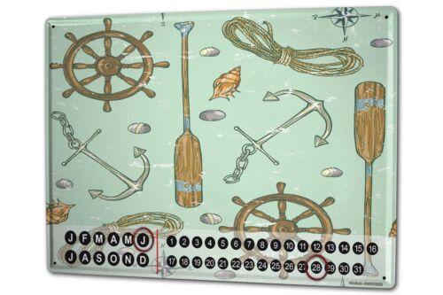 Dauer Wand Kalender Maritim Schiffszubehör Metall Magnet