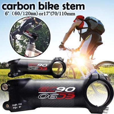 New EC90 Full Carbon Fiber Bicycle Stem Bike Handle Stem 28.6-31.8mm 6°//17° Us A