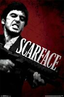 Scarface Movie Poster Clench & Fire 22x34 Al Pacino Tony Montana