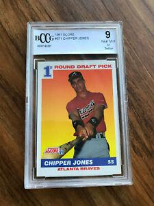 1991 Score #671 Chipper Jones Rookie Graded BCCG 10 MINT+