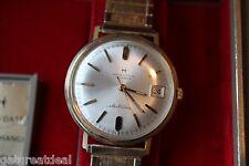 Vintage Hamilton Electronic Masterpiece 14k SOLID Gold Wristwatch DATE BOX