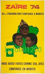 MUHAMMAD-ALI-v-GEORGE-FOREMAN-RARE-VINTAGE-BOXING-POSTER-PRINT-ZAIRE-1974