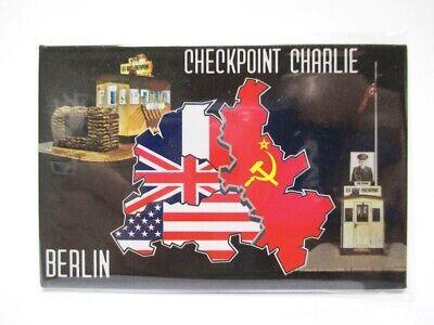 WunderschöNen Berlin Foto Magnet Checkpoint Charlie 8cm Souvenir Germany