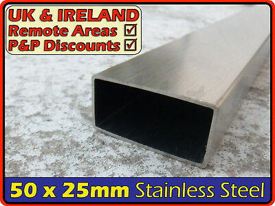 Stainless steel box section D//P 25mm x 25mm x 1.5mm wall x 1000mm