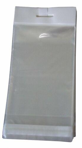 1000 Kopfleistenbeutel mit weißer Kopfleiste Headerbeutel Eurolochbeutel 105x155