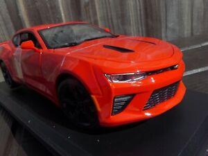 Maisto-1-18-2016-Chevrolet-Camaro-Ss-Rojo-Americano-Juguete-Modelo-de-coche-del-musculo