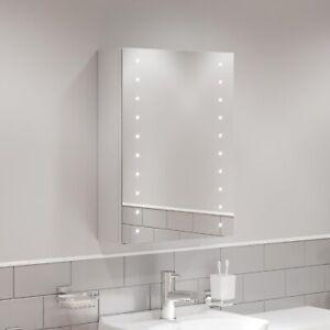 Bathroom Led Mirror Cabinet Illuminated Demister Shaver Socket Ip44 600 X 450mm Ebay