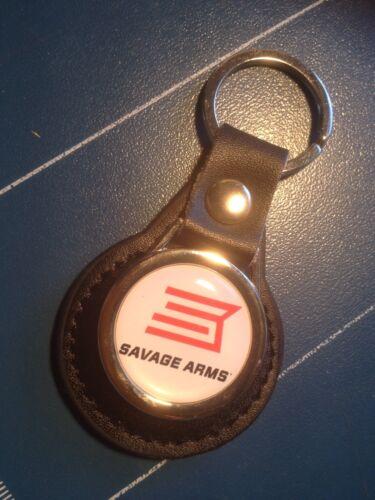 SAVAGE ARMS SPORTING GUNS LEATHER KEY RING  /&  FREE Savage STICKER