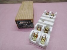 Vintage New Multi Union 2508 4 Circuit Fuse Holder 30a 250v 3w Ceramicporcelain