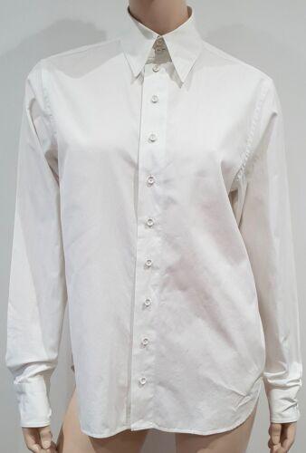 Gaultier John Collared met mouwen lange Cotton blouse Paul I44 Femme White Uk12 OP0kwnX8