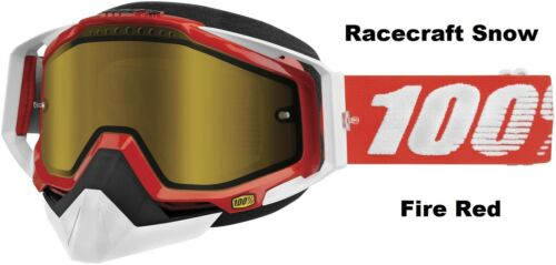 100/% Racecraft Snow Goggles Percent Snowboard Skiing Snowmobile Mens Womens