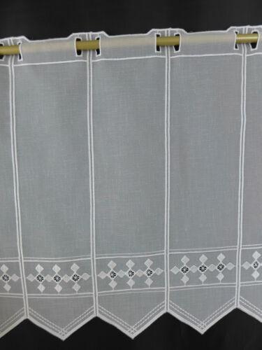 m//€15,24 Scheibengardine Gardine Bistrogardine 44 cm hoch weiß 269271