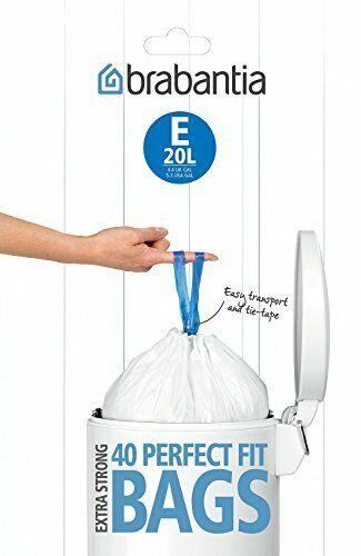 20 L Size E Brabantia Bin Liners 40 Bags