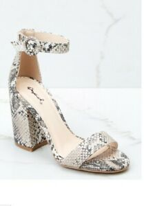 Snakeskin /snake print block heels