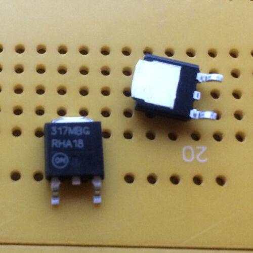 500mA 1.2-37V LM317MBDTRKG  Adjustable Voltage Regulator ON Semi 3-Pin DPAK SMD