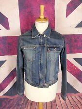 #992 Bench Ladies Zip Fastening Blue Denim Biker Style Jacket, Medium